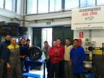 Aula de mecánica del instituto